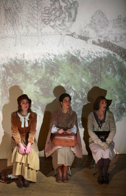 Rivière Théâtre Virginia Woolf Une Chambre à soi compagnie l'Instant-Même dessins scénographie Essi Esther Berelowitsch