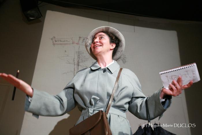 Théâtre Virginia Woolf Une Chambre à soi compagnie l'Instant-Même dessins scénographie Essi Esther Berelowitsch