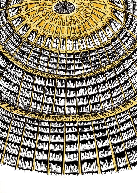 La Bibliothèque British Museum Library Théâtre Virginia Woolf Une Chambre à soi compagnie l'Instant-Même dessins scénographie Essi Esther Berelowitsch
