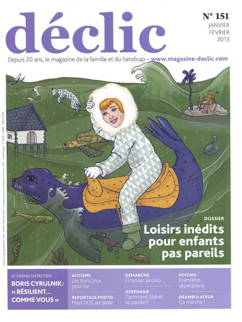 Couverture Déclic n°151 loisirs enfants handicapés loisirs originaux Essi dessin
