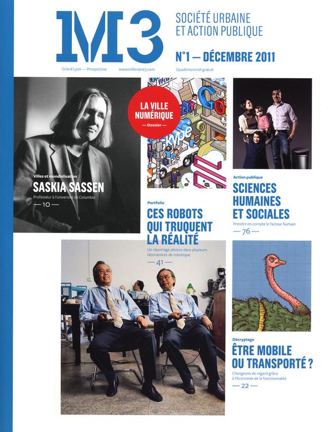 magazine M3 n°1 prospective Grand Lyon économie de la fonctionnalité transport autruche couv dessin Essi