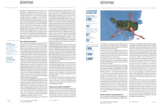 magazine M3 n°1 prospective Grand Lyon économie de la fonctionnalité transport autruche dessin Essi